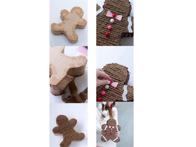 Kocaman bir kurabiye adamı hediye kutusu yapmaya ne dersiniz