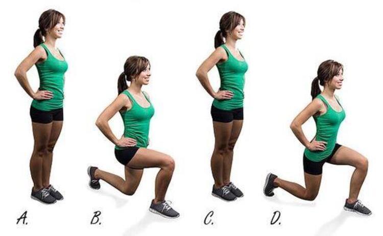 Siz de tüm bu hareketleri başlangıçta ağırlıksız ve küçük setler ile daha sonra ise yavaş yavaş set sayılarını arttırıp hafif ağırlıklar dahil ederek fit bir kalçaya sahip olabilirsiniz.Lunge