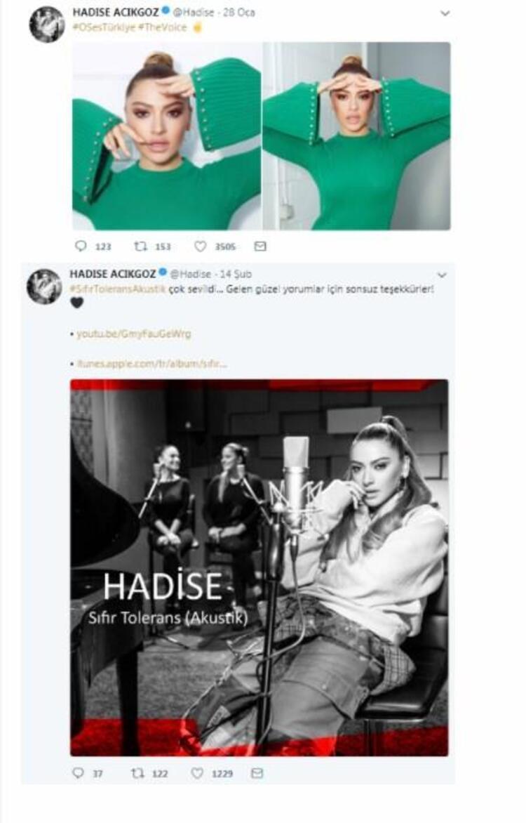 6. Hadise (@Hadise)