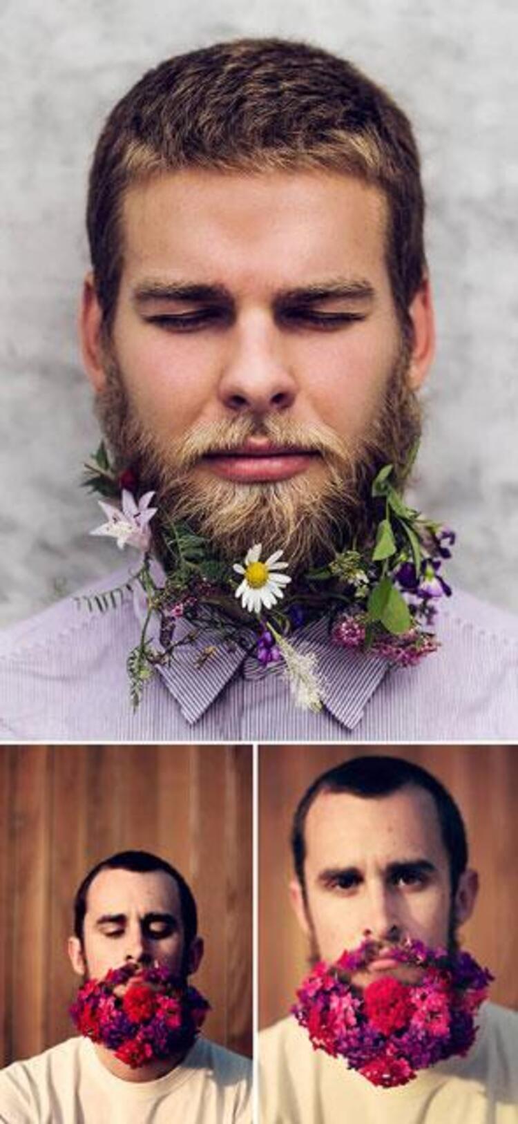 Sakalda çiçek