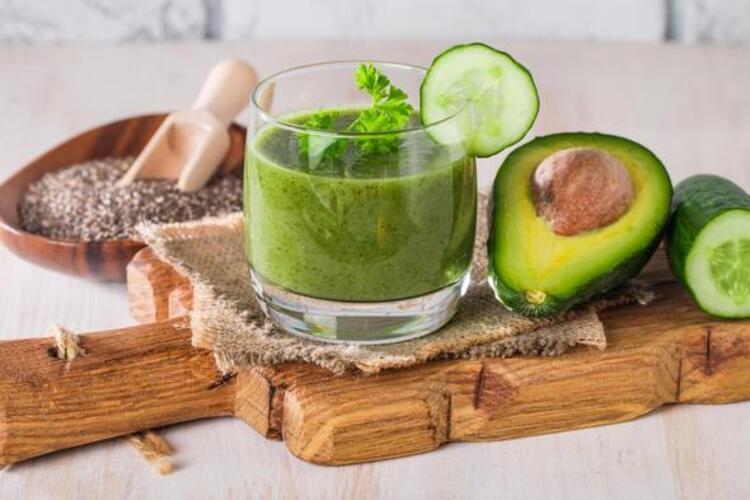 Avokado, Nane ve Salatalık