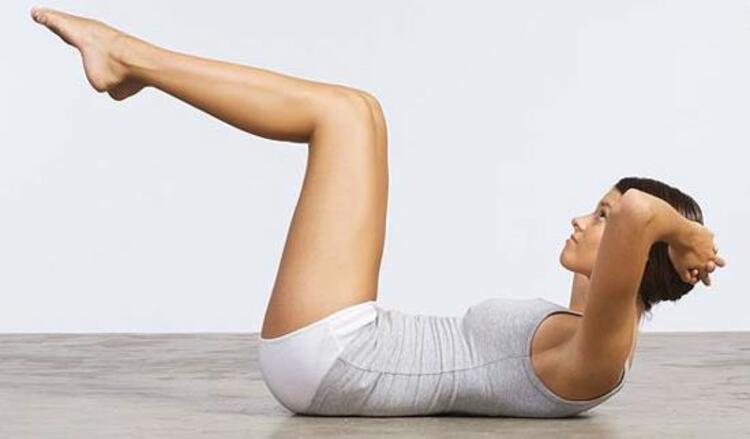 Sıralama Kolaydan Zora Doğru Olacak İkinci Egzersizimiz ''Legs Up Crunch'';