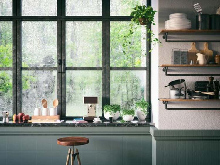 Mutfak duvarları da dekorasyona dahil