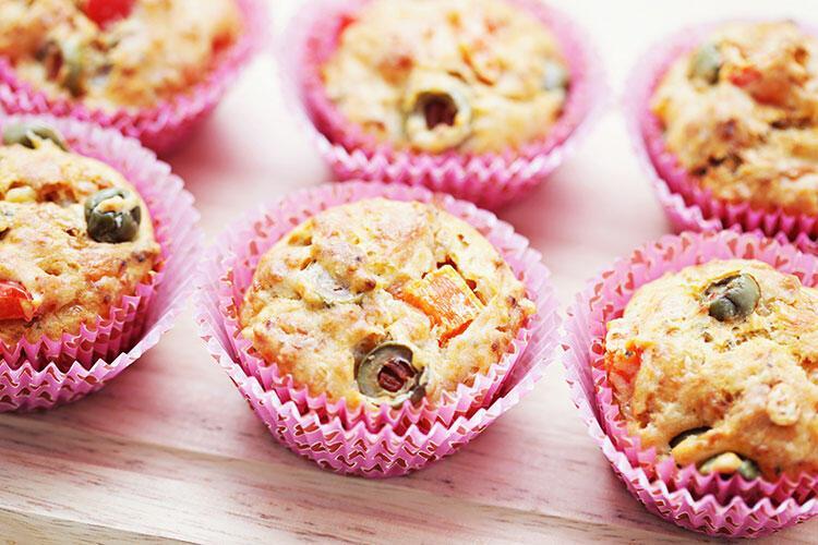 Zeytin ve kekikli muffin tarifi