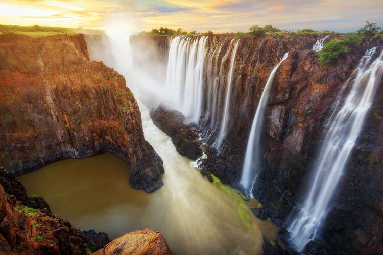 19- Victoria Şelaleleri, Zambiya / Zimbabve