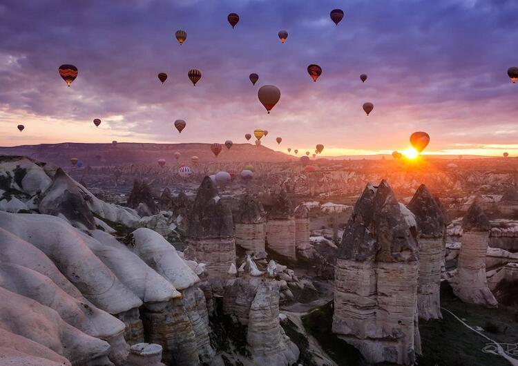 En romantik karşılama: Kapadokya