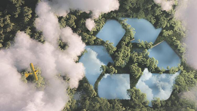 Karbondioksit gazı katı karbona dönüştürüldü