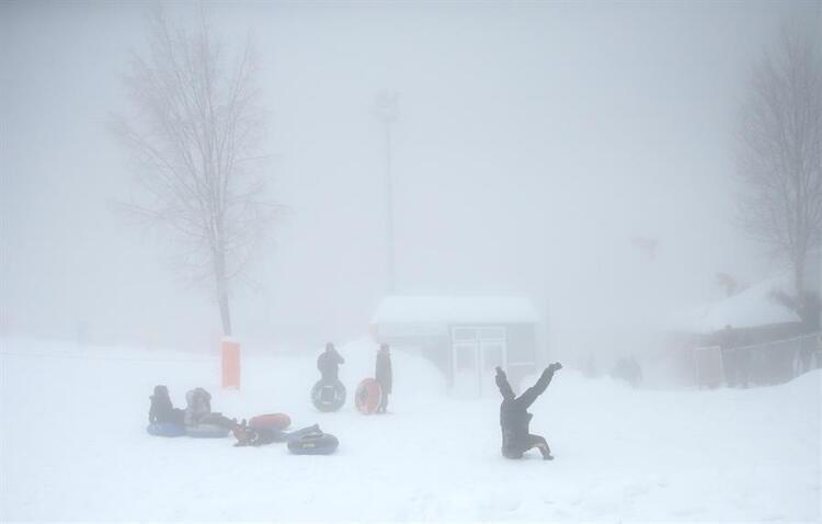 Kartepede kar kalınlığı 140 santimetreye ulaştı