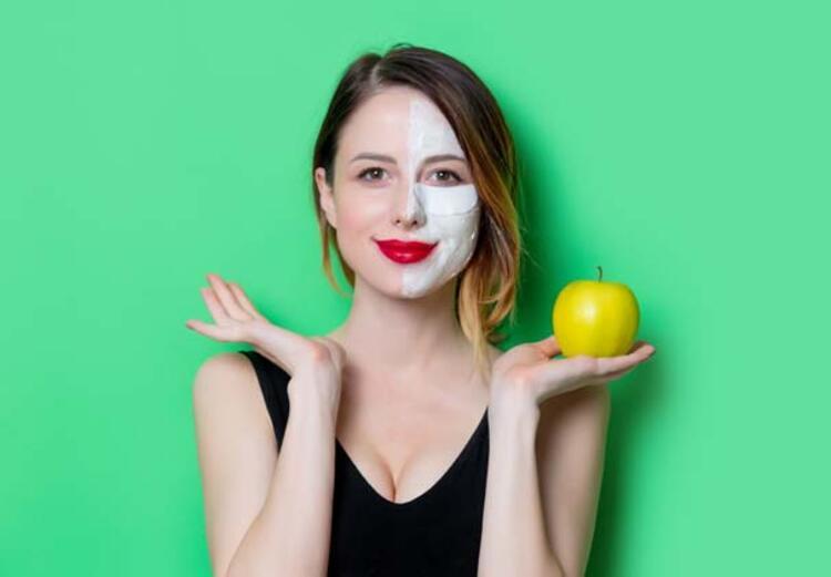 2) Üzüm ve elmalı yüz maskesi