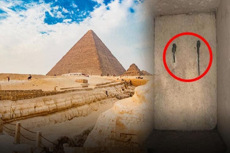 Piramit'te keşfedilen bakır kulplu kapı