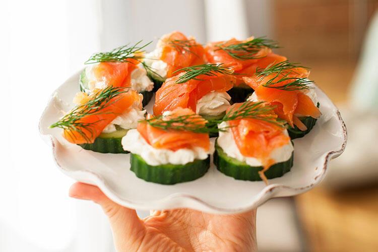 Salatalıklı kanepe tarifi