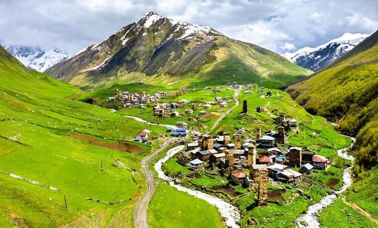 Uşguli köyü / Gürcistan