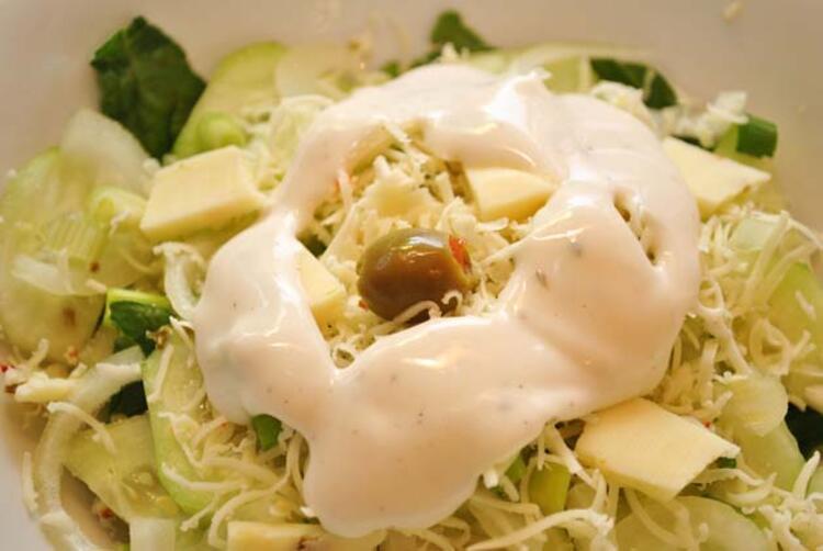 2- Kremalı salata sosları: