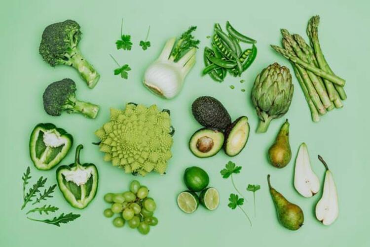 Yeşil renkli besinler: