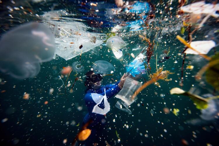 Resmen plastik atık dalışı yaptım