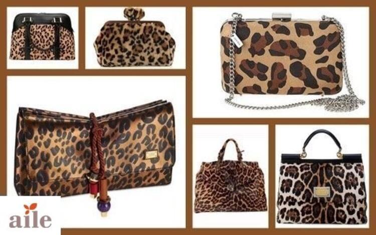 Leopar Desenli Çantalar