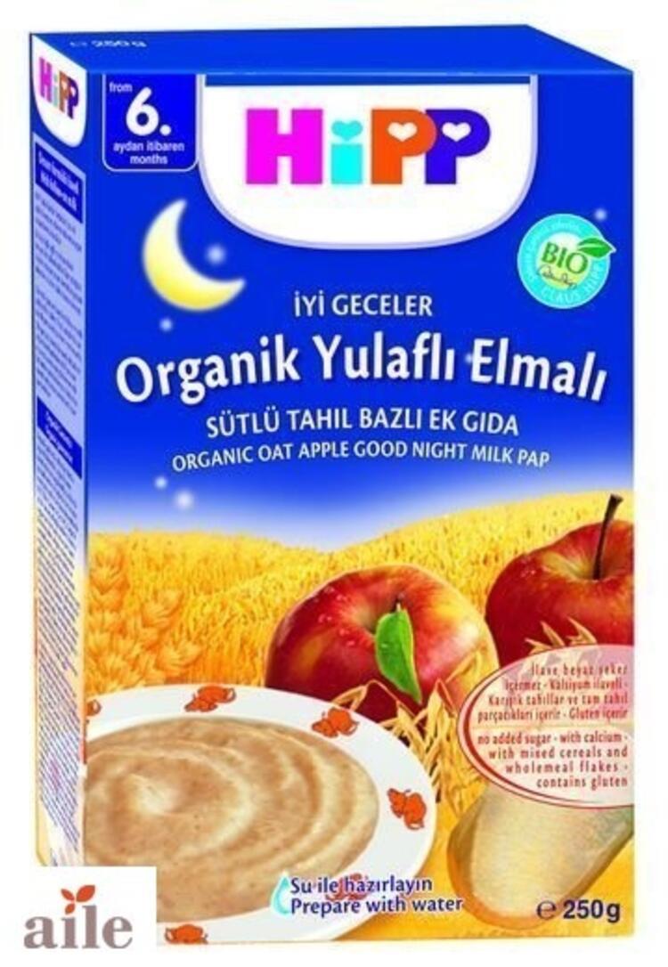 Hipp Organik Yulaflı Elmalı Tahıl