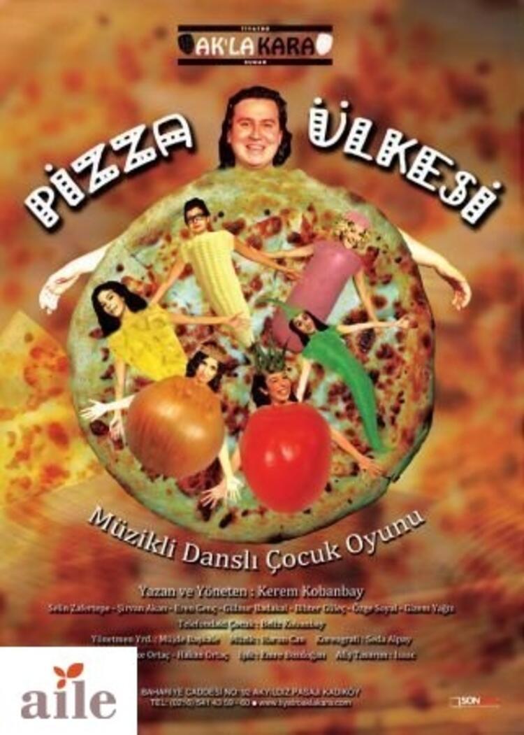 """Ak'la Kara Tiyatro'dan """"Pizza Ülkesi"""" Çocuk Oyunu"""