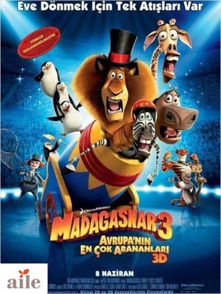 Madagaskar 3, 8 Haziran'da vizyonda