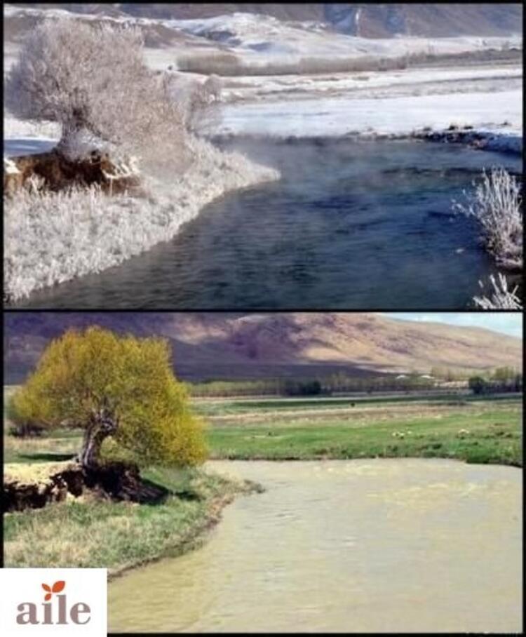 Mevsimlerin etkisiyle iki farklı dünya