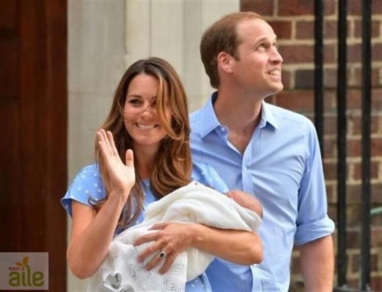 Kraliyet bebeği ilk kez görüntülendi