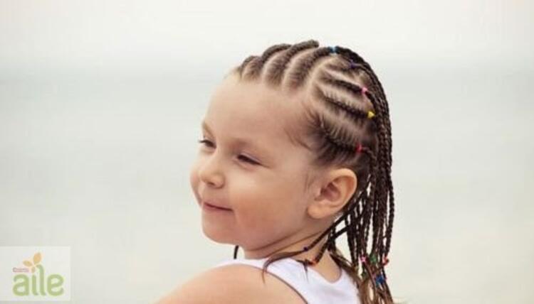 Okula başlayan kız çocukları için saç modelleri