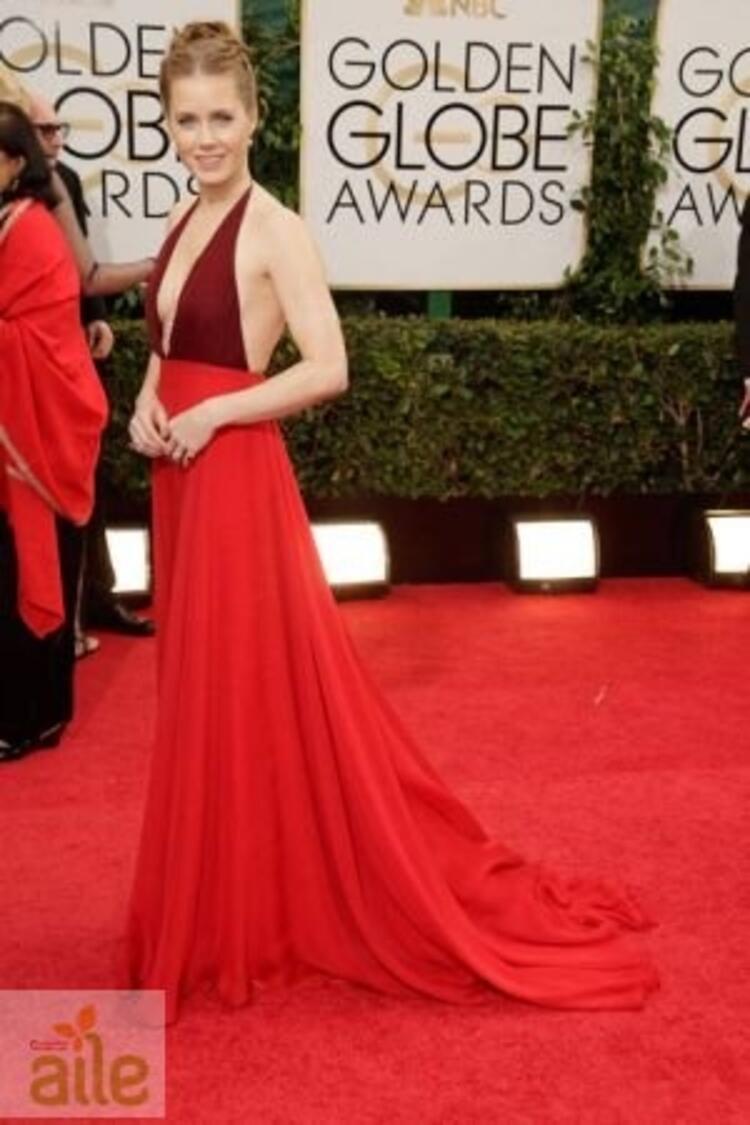 Amy Adams Valentino elbisesiyle