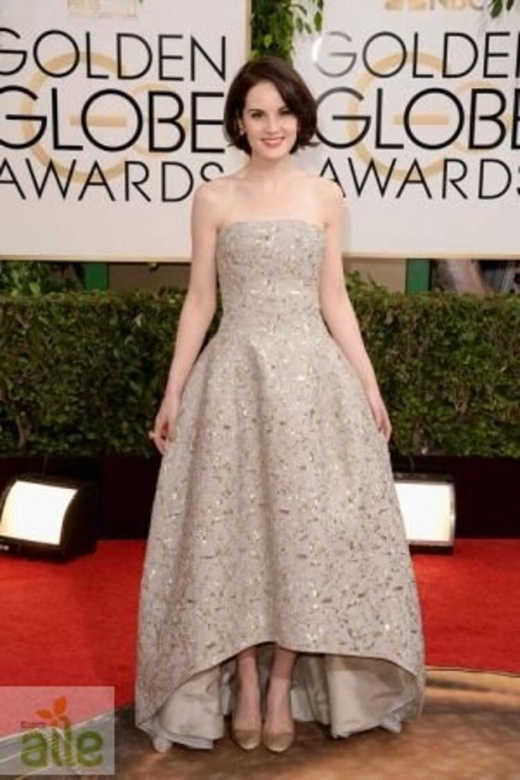 Michelle Dockery Oscar De La Renta elbisesiyle