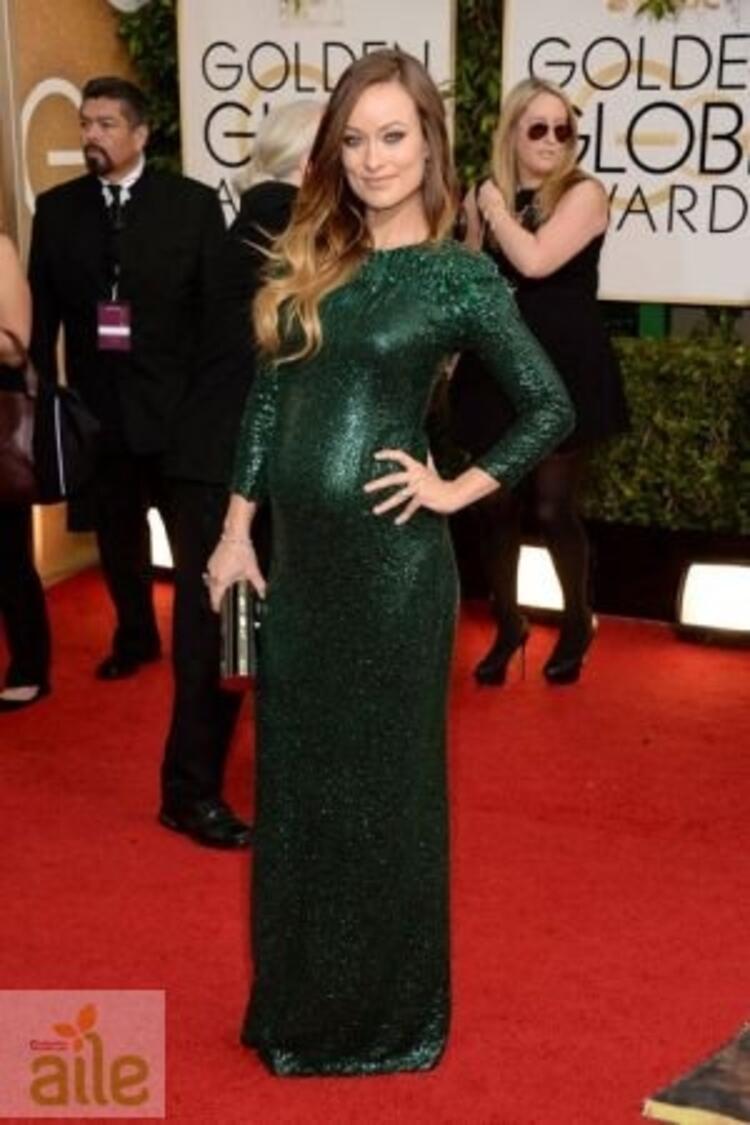 Olivia Wilde Gucci elbisesiyle