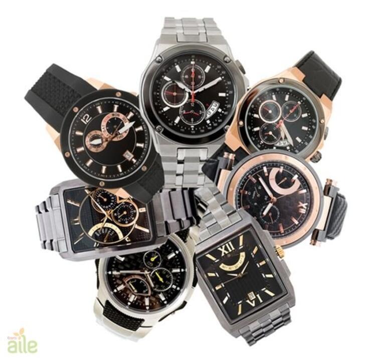 Metal ve deri kordonlu erkek kol saatleri