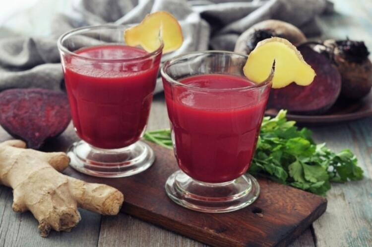 Pancar ve zencefilli smoothie: