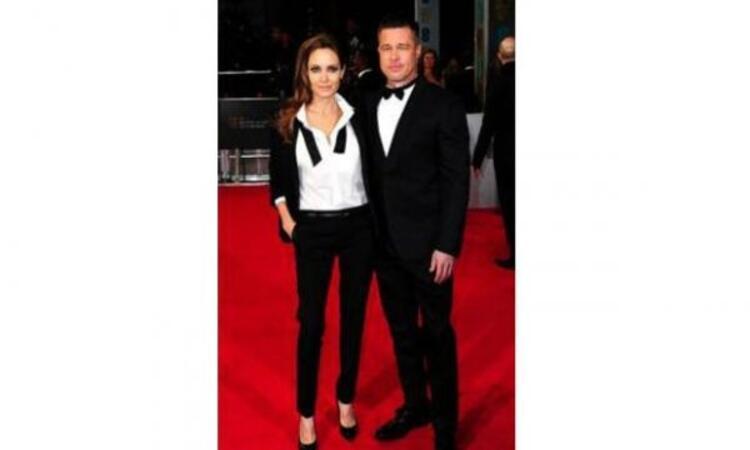 Angelina Jolie - Saint Laurent & Brad Pitt - Valentino