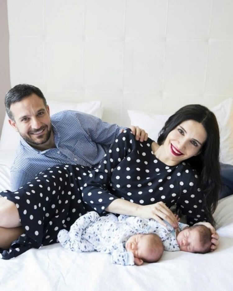 Başak Sayanın ikizleri Ares ve Milan