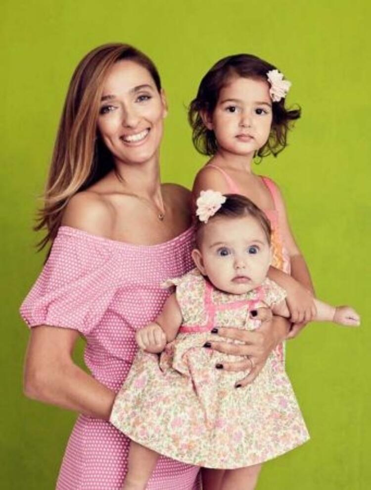 Pınar Tezcan'ın kızları Derin ve Duru