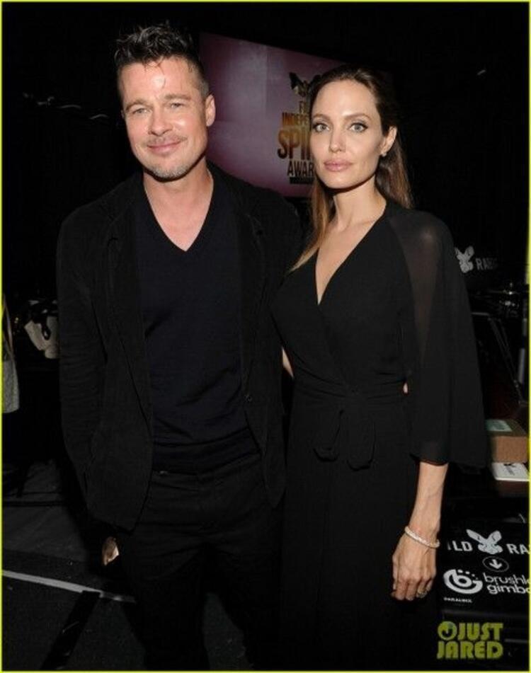 Sevilen çift Brad Piit ile Angelina Jolie'nin fotoğrafları