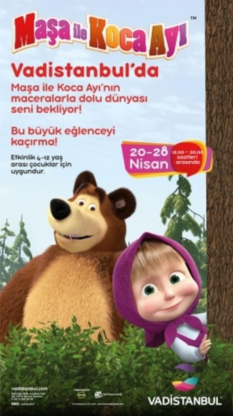 Maşa İle Koca Ayı, Vadistanbul'da  Çocuklarla Buluşuyor