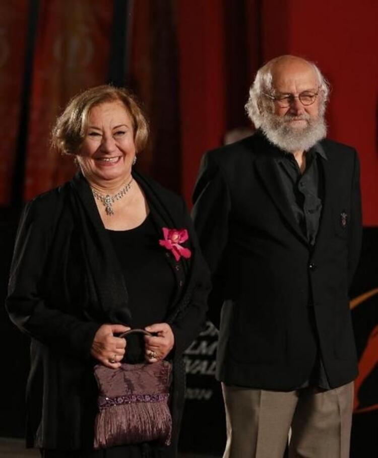 Tiyatro ve sinema sanatçısı Gülsen Tuncer ile Engin Ayça