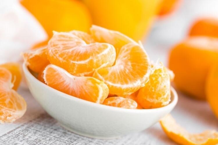 Nezle ve gripten korunmak için mandalina