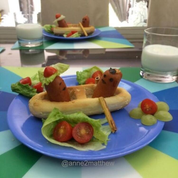 Çocuklar yemek yerken çok eğlenecek