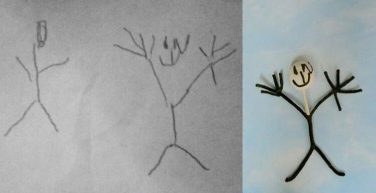 5 yaşındaki Nathanielin çizimi