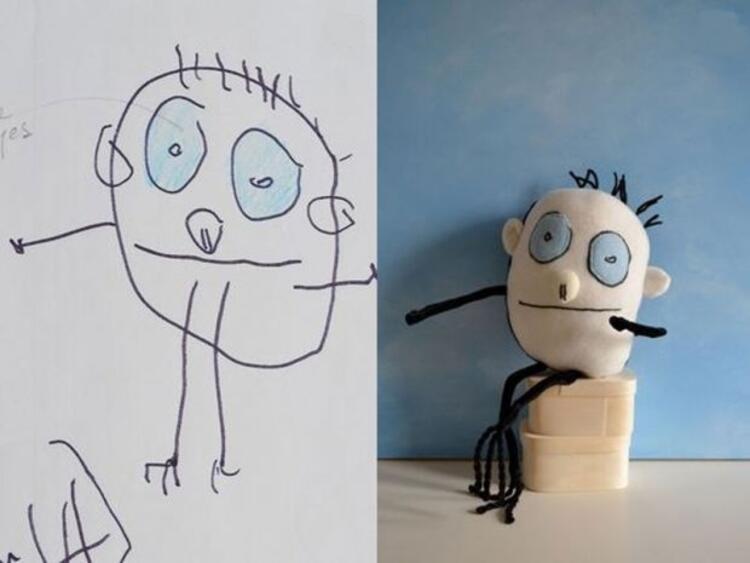 3 yaşındaki Walkerın çizimi