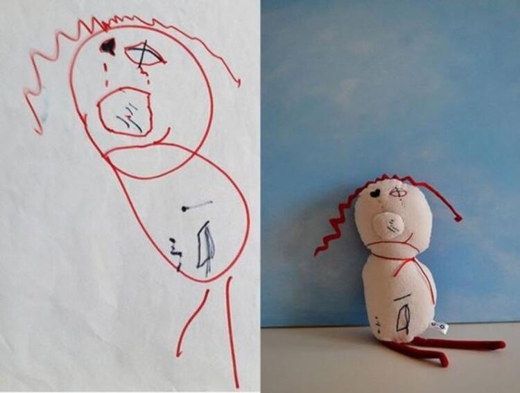 5 yaşındaki Mylesın çizimi