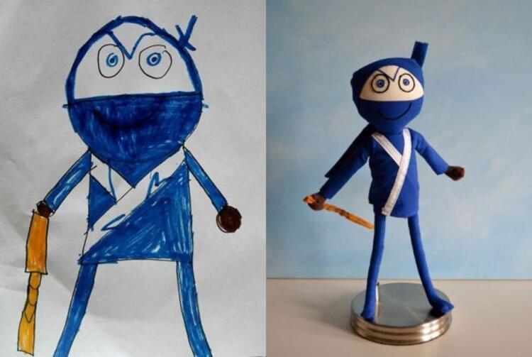7 yaşındaki Lucasın mavi ninjası