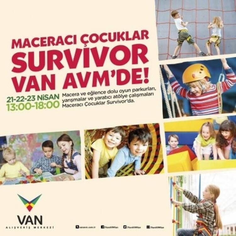 """""""Maceracı Çocuklar Survivor'la"""" VAN AVM'de"""