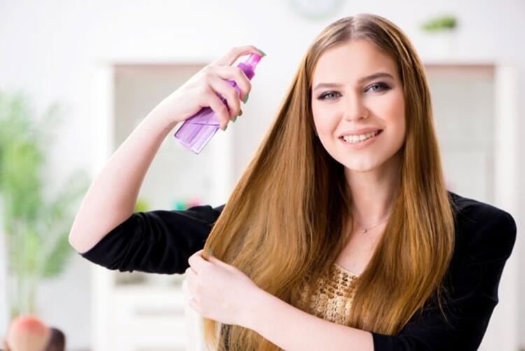 Saç spreyi kullanın
