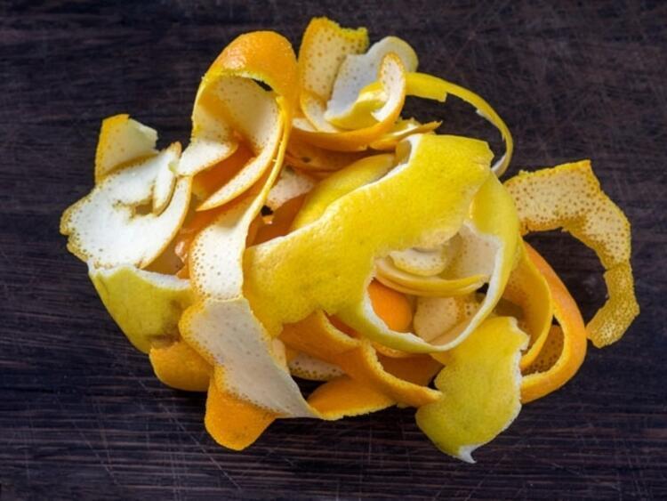 4) Portakal, limon, greyfurt kabuğu
