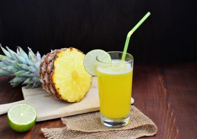 Ananaslı zencefilli yaz kokteyli