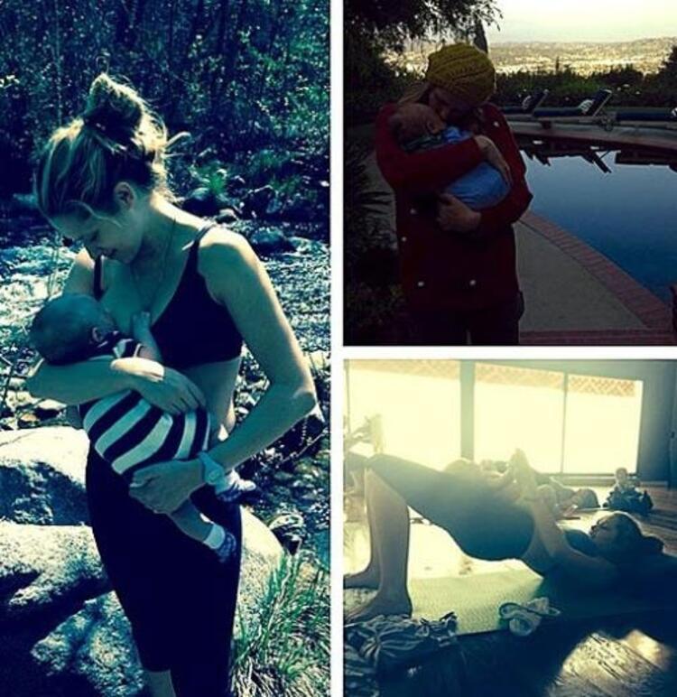 Teresa Palmer, oğlu Bodhi Rain emzirirken fotoğrafını sosyal medya hesabında paylaşmıştı.