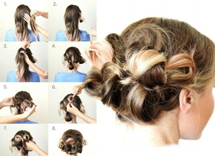 Benzersiz kabarık saç