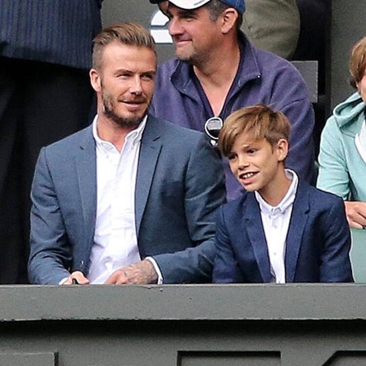 Harper Beckham Romeo Beckham